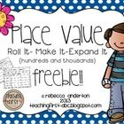 These are two easy and fun little games for your students to practice place value and expanded notation to the hundreds and again to the thousands. Use this along with my Place Value Feebie for Tens and Ones