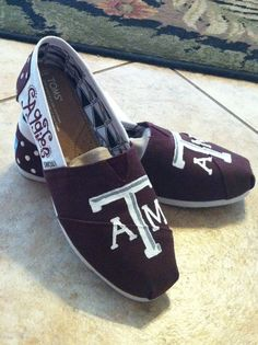 Custom Collegiate Gameday Aggie TOMS A&M by LaClareDesigns on Etsy, $95.00