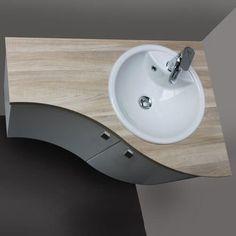 Small Bathroom Organization, Diy Bathroom Decor, Bathroom Interior Design, Bathroom Sink Units, Corner Bathroom Vanity, Small Toilet Room, Guest Toilet, Lavabo D Angle, Ideas Baños