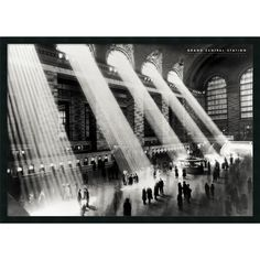 Hulton 'Grand Central Station New York 1934' Framed Art Print with Gel Coated Finish