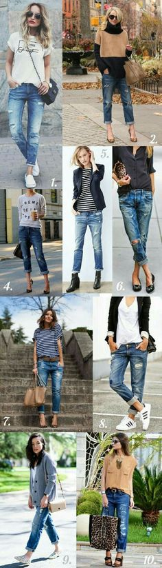 How to wear your distressed jeans this fall!