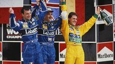Nigel Mansell guanya un campionat de fórmula 1