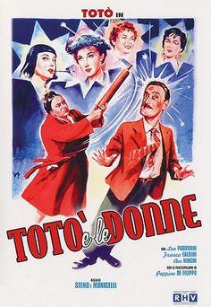 """Toto and the Women (1952) """"Totò e le donne"""" (original title) Stars: Totò, Lea Padovani, Franca Faldini ~   Directors: Mario Monicelli, Steno"""