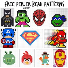 Free Perler Bead Patterns for Kids! Princess ones for girls, too!