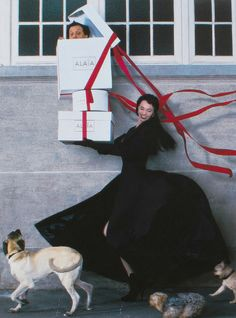 Azzedine Alaïa and Beatrice Dalle by Jean-Paul Goude Visionaire 18: 'Fashion Special'