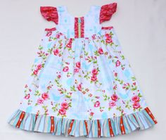 Tweet and Birdcages Flutter Dress 3 Months to 6T by JemiBoutique, $40.00