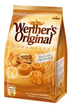 So sweet and alluring: fine chocolate swirled with delicate Werther's Original caramel. Candy Recipes, Gourmet Recipes, Snack Recipes, Snacks, Werther's Caramel, Braces Food, Ice Cream Varieties, Snack Items, Chocolate Swirl