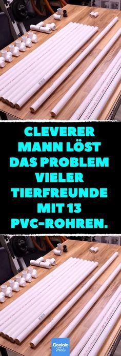 Cleverer Mann löst das Problem vieler Tierfreunde mit 13 PVC-Rohren. Aus 13 PVC-Rohren: So baust du eine Dusche für deinen Hund. #hund #haustiere # upcycling #diy #pvc rohr #hundedusche