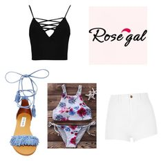 """""""spring break fun"""" by ajrock1313 on Polyvore featuring Boohoo, River Island and Steve Madden"""