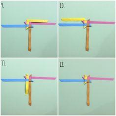steps 9 - 12 of making origami stars