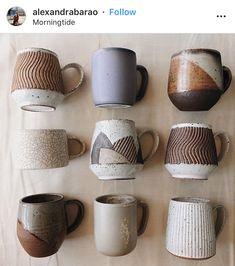 hand thrown ceramic mugsYou can find Ceramic mugs and more on our website.hand thrown ceramic mugs Ceramics Pottery Mugs, Ceramic Pottery, Slab Pottery, Pottery Vase, Pottery Wheel Diy, Ceramic Cups, Ceramic Art, Ceramic Shop, Rustic Mugs