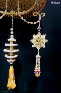 Flower Ornaments, Thai Art, Flower Decorations, Handicraft, Wedding Cards, Floral Arrangements, Garland, Traditional, Flowers