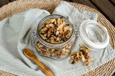 Pecan Chocolate Chip Coconut Granola is the perfect grab-and-go snack recipe when you're looking for something a little bit sweet, thats also gluten free, grain free, dairy free, and paleo friendly. Granola, Muesli, Paleo Recipes, Whole Food Recipes, Snack Recipes, Paleo Meals, Paleo Food, Free Recipes, Paleo Sweets