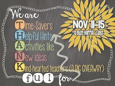 Luckeyfrog's Lilypad: Giving THANKS for Teacher Time-Savers!