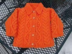 Ravelry: Aran Baby Set - cardigan pattern by McCall Pattern Company - *pattern Knitted Baby Cardigan, Knit Baby Sweaters, Cardigan Pattern, Baby Girl Patterns, Baby Clothes Patterns, Kids Knitting Patterns, Knitting For Kids, Baby Crafts, Crochet Baby
