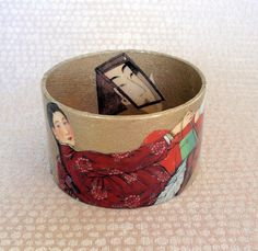 Asiatique/Oriental Decoupage Bracelet / par sistascreativecafe