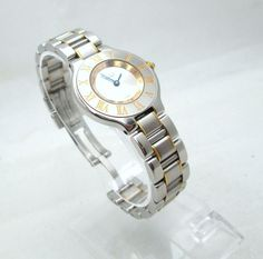 Catawiki online auction house: Cartier Must 21 - Steel / Gold - Ref. 1340…