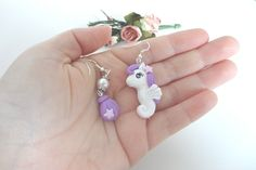 earrings My Little Pony Sea in polymer clay by AudreyPinkStyle, €12.00