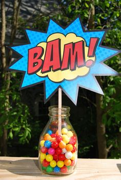 Boom Pow Zap Bam Pop Table/Cupcake Tower by BsquaredDesign on Etsy