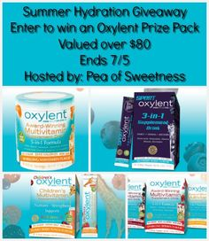 Enter the Summer Hydration Giveaway for the chance to win an Oxylent Multivitamin Drink Prize Pack valued over $80! Open to US residents ages 18+.