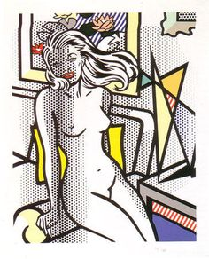 Nude with Yellow Pillow - Roy Lichtenstein - Puccio Fine Art, you can see more at: http://archesart.co.uk/Works/viewPrint/MjMzNQ==