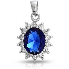 Bling Jewelry Buckingham Pendant (150 BRL) ❤ liked on Polyvore featuring jewelry, pendants, blue, necklaces pendants, christmas jewelry, artificial jewellery, charm pendant, blue jewelry and blue pendant