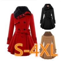 Buy Winter Coat Women Double Breasted Thicken Slim Long Style Wool Blends Coats With Belt at Wish - Shopping Made Fun Winter Coats Women, Coats For Women, Wish Shopping, Double Breasted, Wool Blend, Slim, Jackets, Stuff To Buy, Clothes