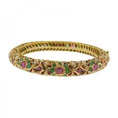 Ruby Bangles, Gold Bangles, Gold Bangle Bracelet, Jewelry Bracelets, Solid Gold Bangle, Arm Candies, Hand Jewelry, Gold Jewellery Design, Bracelet Designs