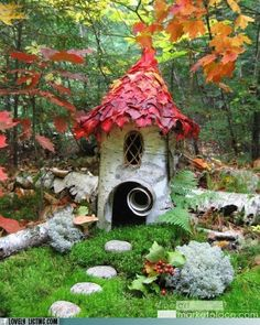 Made from found natural objects, it makes a beautiful home for faeries in the garden.