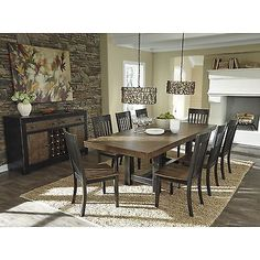 Dinner-Table-Dining-For-8-Room-Farmhouse-Extendable-Distressed-Wood-Rectangle