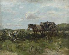 Johan Frederik Cornelis Scherrewitz (1868-1951) The wood gatherer, oil on canvas 40.4 x 50.5 cm. Collection Simonis & Buunk, The Netherlands