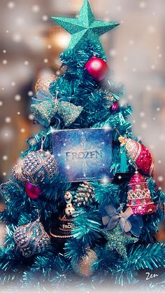 need to buy the girls turquoise pink purple and blue ornaments for their themed christmas treeschristmas themesfrozen - Frozen Christmas Tree Ornaments