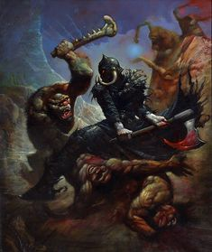 Post with 1940 votes and 61429 views. Tagged with art, fantasy, dump, frank frazetta; Shared by The amazing art of Frank Frazetta Simon Bisley, Arte Sci Fi, Sci Fi Art, Frank Frazetta, Sci Fi Kunst, Comic Kunst, Comic Art, Fantasy Artwork, Art Science Fiction