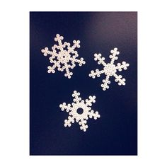 Hama bead snowflakes by kissthefrogx