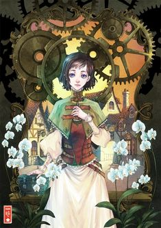 Nice art by Rann #Anime #Steampunk #Illustration #Fantasy