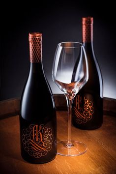 Ak Rose Wine Label on Packaging of the World - Creative Package Design Gallery