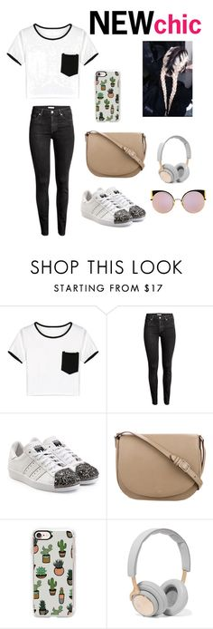 """""""Untitled #95"""" by iuliamariacristea ❤ liked on Polyvore featuring WithChic, adidas Originals, CÉLINE, Casetify, B&O Play and Fendi"""