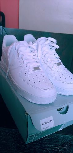 Men's Size Nike Air Force 1 (White) for Sale in North Plainfield, NJ - OfferUp All White Air Forces, White Air Force Ones, All White Nike Shoes, White Nikes, Nike Air Force 1 Outfit, Nike Shoes Air Force, Nike Air Jordan 5, Fresh Shoes, Mens Nike Air