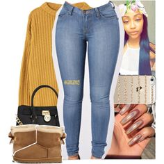 A fashion look from December 2016 featuring MANGO sweaters, MICHAEL Michael Kors tote bags and Casetify tech accessories. Browse and shop related looks.