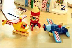 kinderen educatief houten speelgoed mini magnetische vliegtuig hout vliegtuig voor kinderen kadootjes 3 ontwerpen