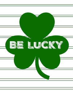 Mimi Lee Printables & More: Be Lucky Free Printable St Patricks Day Decor Door, Queen Of Hearts, Happy Easter, Free Printables, Holidays, Spring, Summer, Ideas, Happy Easter Day