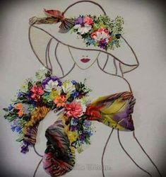 Wonderful Ribbon Embroidery Flowers by Hand Ideas. Enchanting Ribbon Embroidery Flowers by Hand Ideas. Art Floral, Deco Floral, L'art Du Ruban, Illustration Blume, Pressed Flower Art, Ribbon Art, Silk Ribbon Embroidery, Embroidery Ideas, Embroidery Fashion
