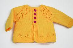 Yellow baby cardigan Baby clothing Baby shower gift by SvitlanaSky