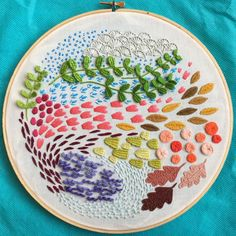 Lots of interesting embroidery stitches and techniques.
