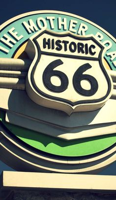 Road Trip Planner : It's been hailed the mother of all road trips - Route And for good reason. Not only is it historically one of the most Route 66 Sign, Old Route 66, Route 66 Road Trip, Historic Route 66, Travel Route, Road Trip Playlist, Road Trip Planner, Arizona Travel, Arizona Trip