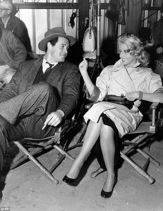 Rock Hudson and Dorothy Malone, set of Written on the Wind, 1956 Piper Laurie, Donna Reed, Yvonne De Carlo, Linda Evans, Winchester, John Wesley, Gina Lollobrigida, Julie Andrews, Claudia Cardinale