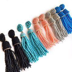 Parker Tassel Earrings in Black