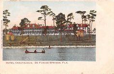 Florida postcard De Funiak Springs, Hotel Chautauqua pre-1907