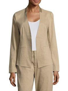 KOBI HALPERIN Claudia Embroidered Open Jacket. #kobihalperin #cloth #jacket