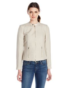 Amazon.com: Calvin Klein Women's Career Linen Jacket: Clothing